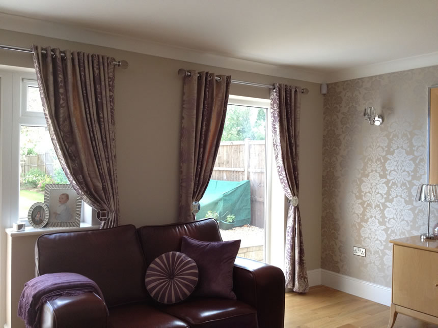 Eyelet Curtains Kettering - Fabric by Laura Ashley
